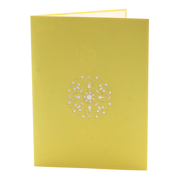 Diwali Holiday Greeting Card - Yellow - paperkami