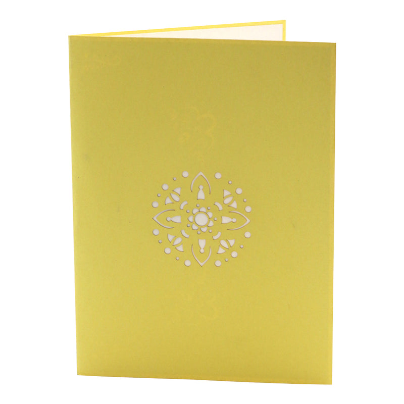Diwali Holiday Greeting Card - Yellow - Unique Gift