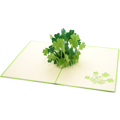 Lucky Clover Pop Up Card - paperkami