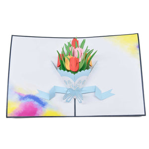 Tulips Bouquet Greeting Card