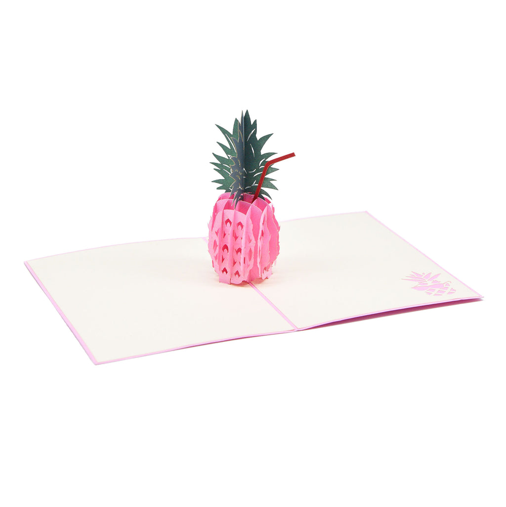 Pineapple Pop-up Greeting Card - Pink