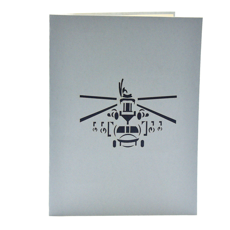 Helicopter 3D Pop Up Greeting Card