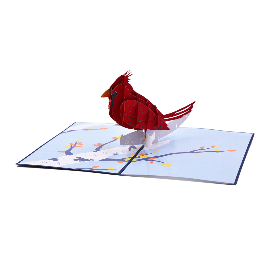 Cardinal Bird 3D Greeting Card