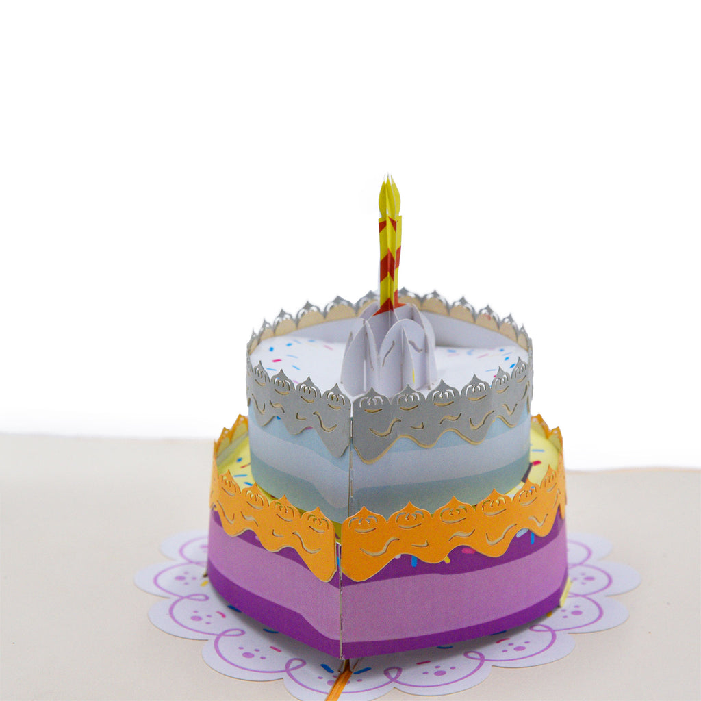 Two-tier Birthday Greeting Card