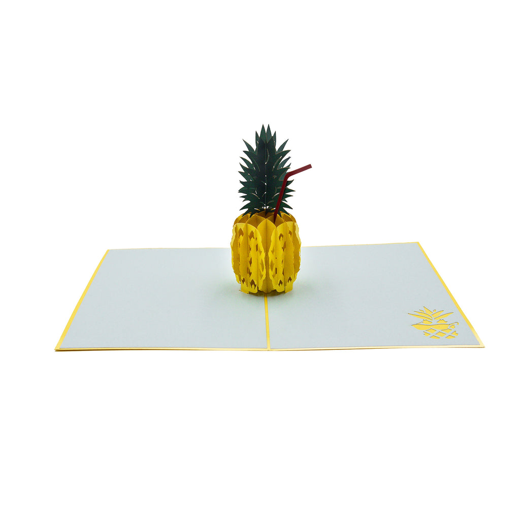 Pineapple Pop-up Greeting Card - Yellow