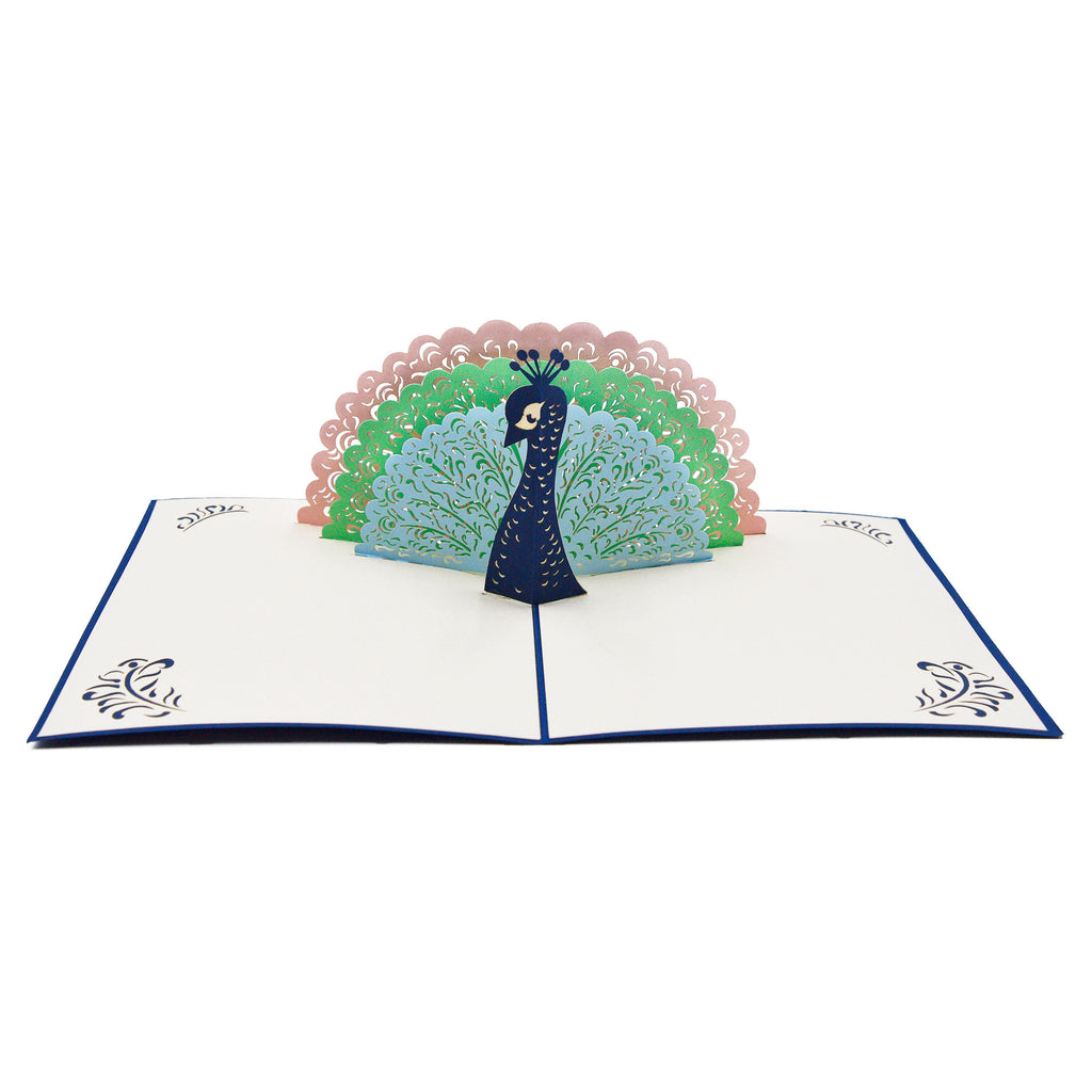 Peacock Pop up Greeting Card
