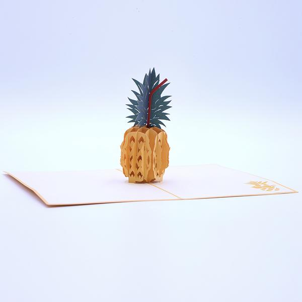 Pineapple Pop Up Card - Orange