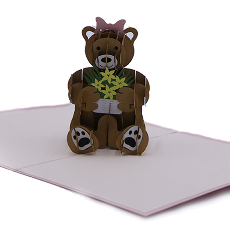 Teddy Bear Love 3D Pop Up Greeting Card
