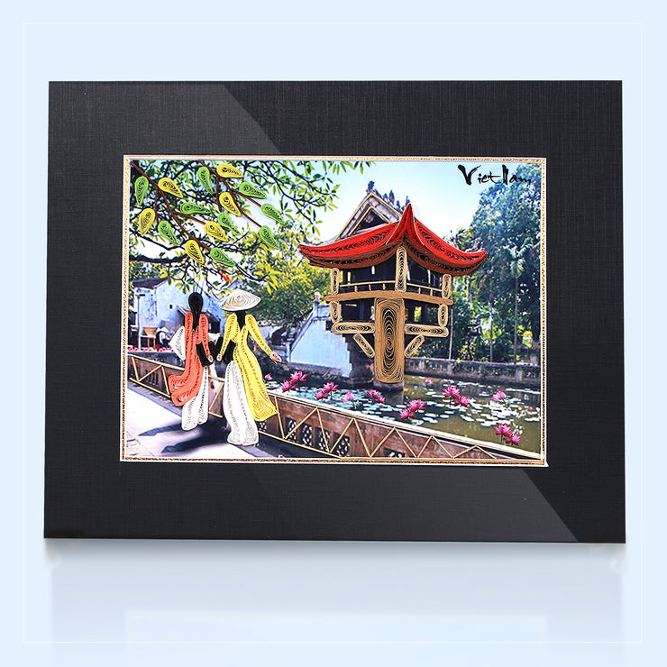 City Scene Quilling Painting - paperkami