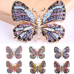 Fashion Butterfly Brooches For Women Perfect Rhinestone Crystal Hijab Pins Christmas Gift Brooches
