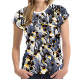 Penguin T-shirt for Women Cute Casual Female Ladies Short Sleeve Funny Women Summer Tops Tees Plus XXL