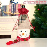 FengRise Christmas Decorations for Home Santa Claus Wine Bottle Cover