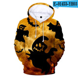 Cool 3D Halloween Hoodies Men /Women  Casual Hoody Sweatshirts 3D Halloween Hooded Mens  Autumn Winter Pullover Classic Fashion