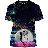 Jack Skellington Jack Sally 3D hoodies/shirt/Sweatshirt Winter Nightmare Before Christmas Halloween streetwear-25