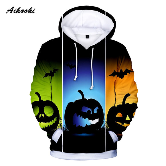 Halloween 3D Hoodies Men/Women Aikooki Hot Salel Fashion Harajuku Anime Hoodie 3D Print Halloween Unisex 3D hoodie Sweatshirts