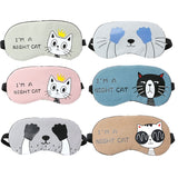Cute Soft Eye Aid Mask Travel Sleep Rest Eye Shade Cover Normal Eyeshade Blindfold Unisex Fashion New