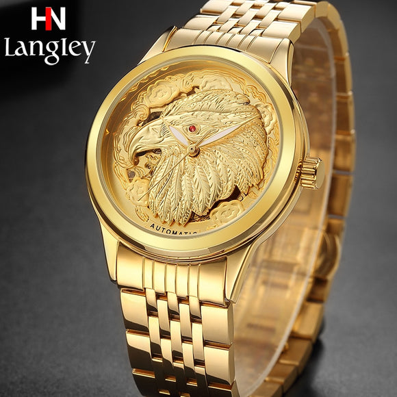 Men's Watches Golden Eagle Dial Automatic Mechanical Watch Business High Quality Watches Luxury