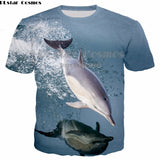PLstar Cosmos Animal cute dolphin animal 3D printing fashion T Shirts Men Women 3D Full Print