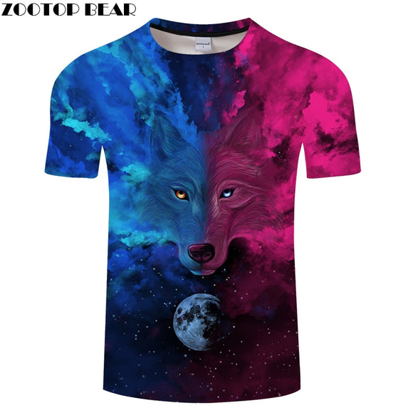White 3D tshirts Men Lion T shirt Harajuku t-shirt Streatwear Tee Summer Tops women Camiseta O-neck Drop ship ZOOTOP BEAR