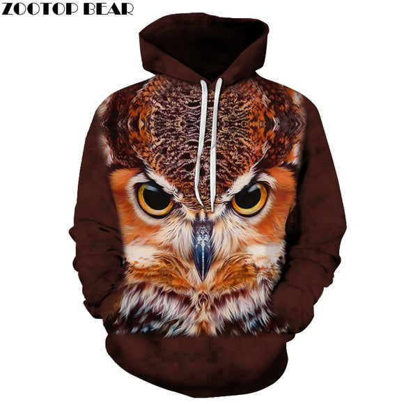 Anime Owl Sweatshirts Men Hoodies Fashion Tracksuits 3D Printing Pullover Male Hoody Funny Coat Streetwear Drop Ship ZOOTOP BEAR