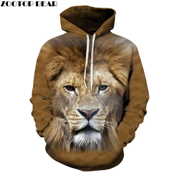 Lion Sweatshirts Men Women Hoodies 3D Pullover Printed Hoody