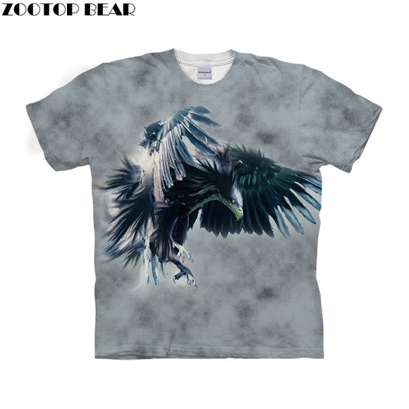 Anime Eagle t shirt 3d t-shirt Men Women tshirt Streetwear Tee Animal Top Off White tshirt Short Sleeve Drop Ship ZOOTOP BEAR