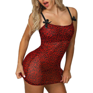 Sexy Leopard Lingerie Bobydoll Women Hot Lace Erotic Dress Underwear Teddy Sex Lenceria Mujer Porno Costumes Sleepwear Baby Doll