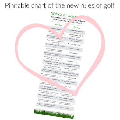 New Rules of Golf + a Pinnable Chart