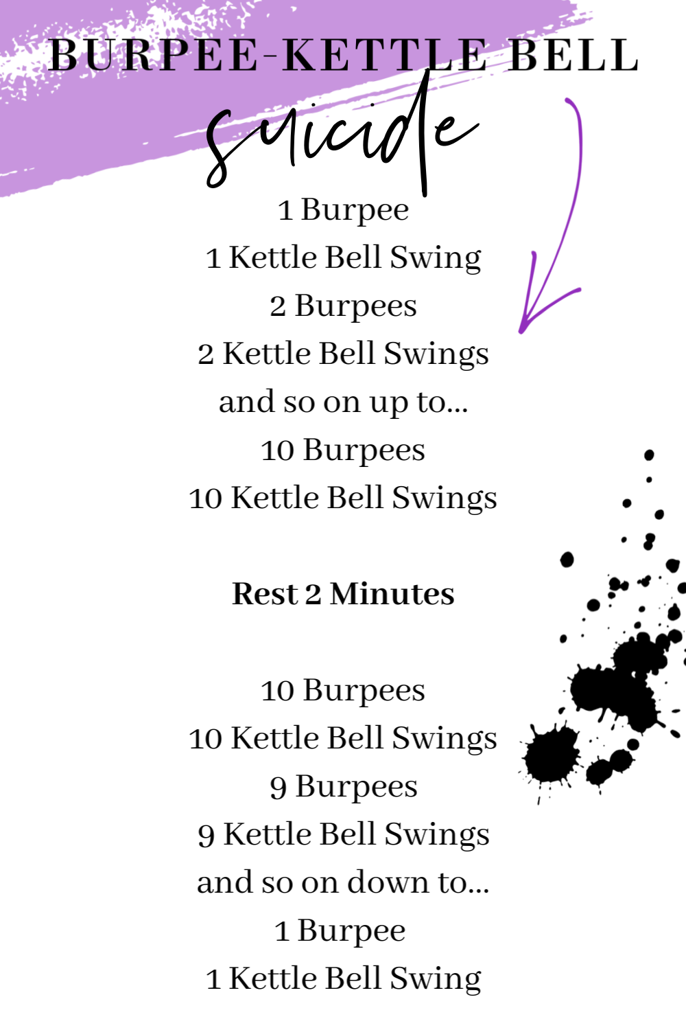 Burpee Kettle Bell Suicide