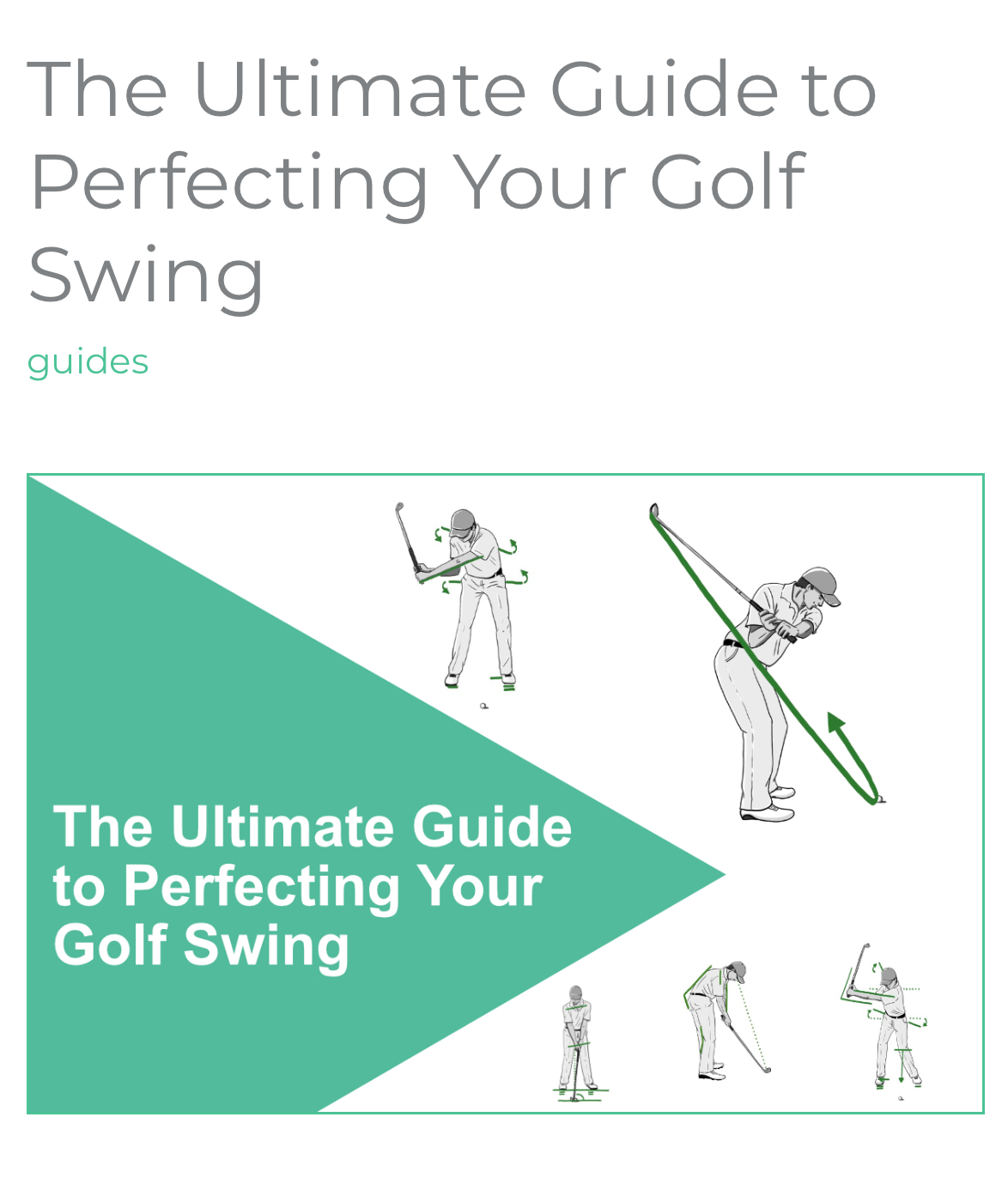 Ultimate Guide to Perfecting Your Golf Swing
