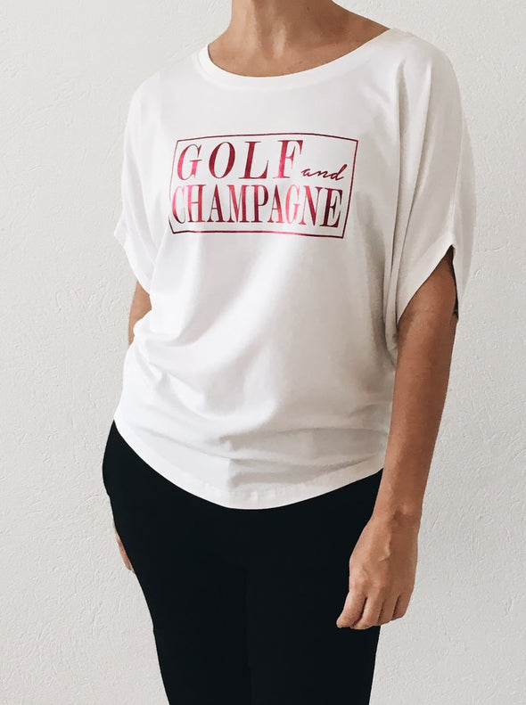 Golf and Champagne Circle Top