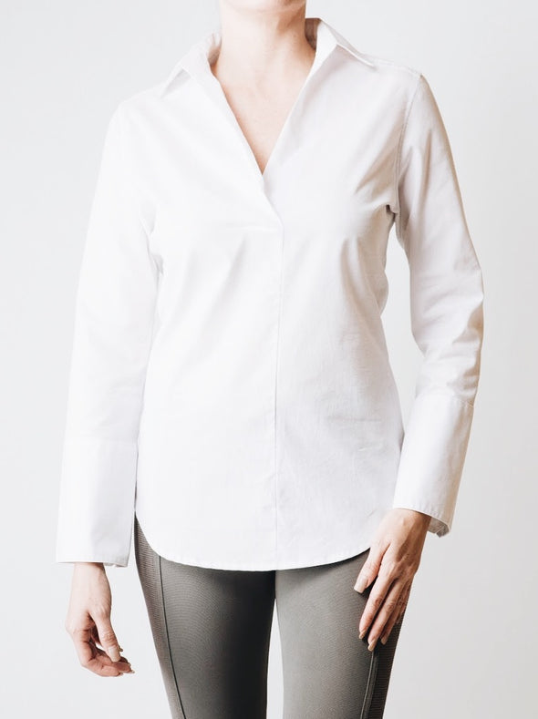 Peekaboo-Back Poplin Top