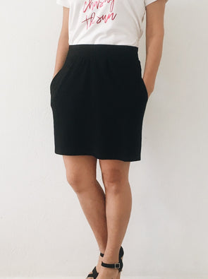 Day to Night Ponte Skirt