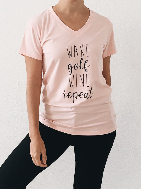 Golf Repeat V-Neck Top