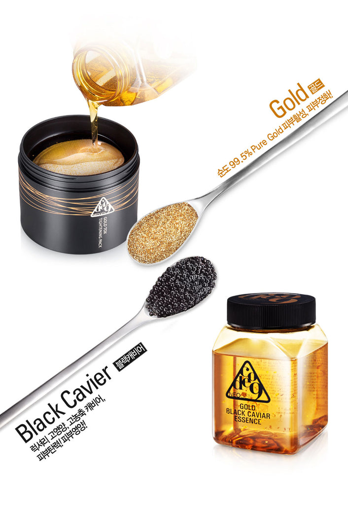 Gold Tox Tightening Pad + Gold Black Cavier Essence Neogen