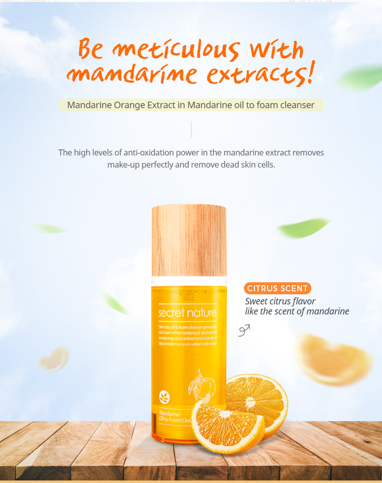 Mandarine Oil To Foam Cleanser Secret Nature
