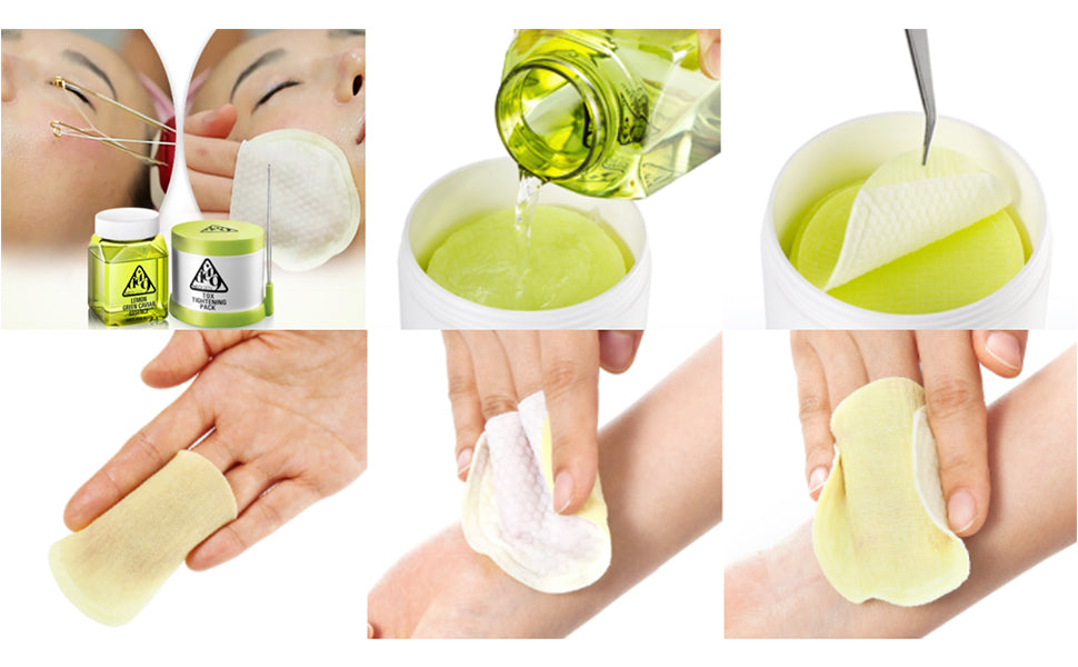 Tox Tightening Pads + Lemon Green Cavier Essence Neogen