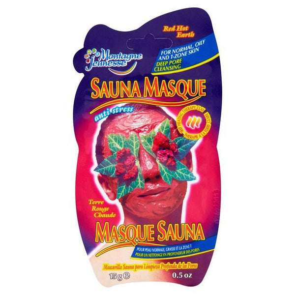 Red Hot Earth Sauna Mask 7Th Heaven Montagne Jeunesse Maschere Viso