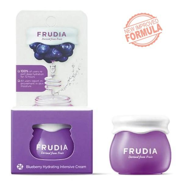 Travel Size Blueberry Hydrating Intensive Cream Frudia Creme Viso