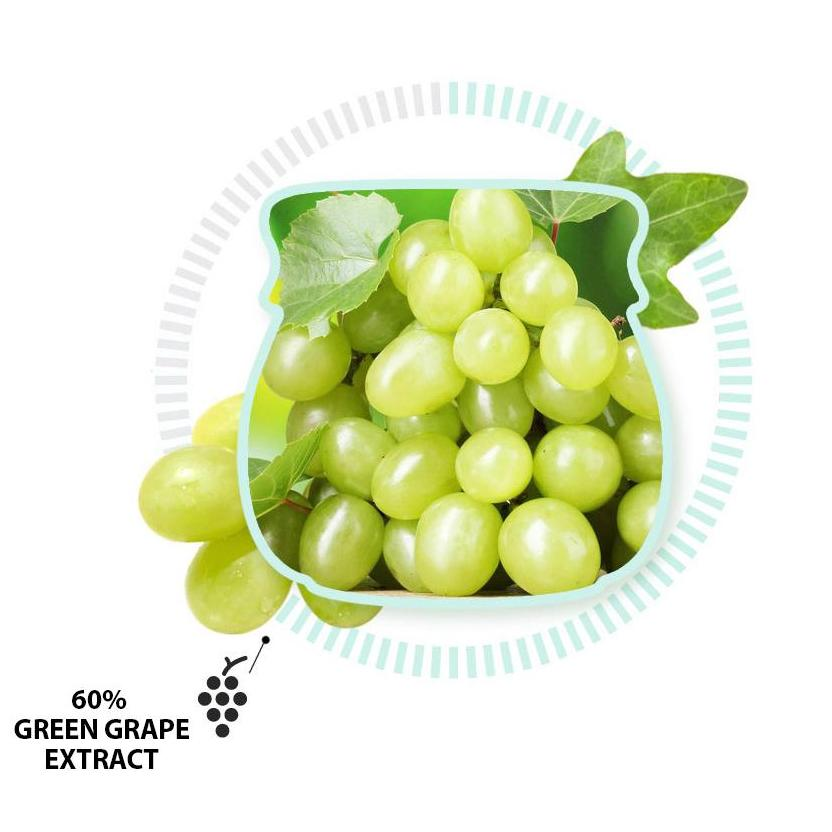 Green Grape Pore Control Mask Frudia Maschere Viso