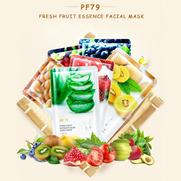 Fresh Fruit Sheet Mask Pf79 (Set 6 Maschere) Maschere Viso