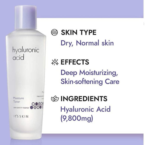 Hyaluronic Acid Moisture Toner It's Skin