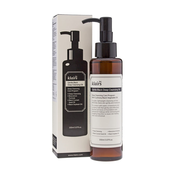 Gentle Black Deep Cleansing Oil Klairs Detergenti & Struccanti