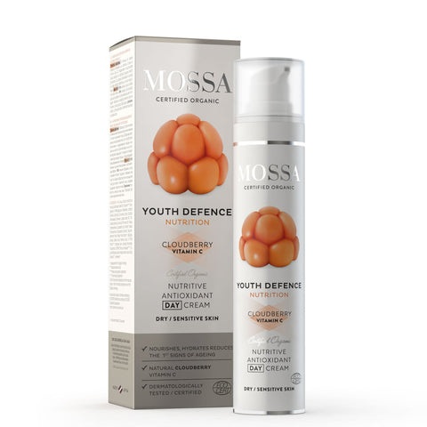 Crema Giorno Vitamina C Nutriente e Antiossidante Youth Defence Nutrition Mossa