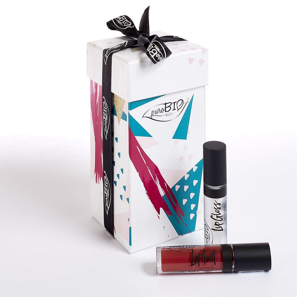 Cofanetto Regalo Limited Edition Lip Gloss + Liptint 4 Lampone Scuro Purobio Idee