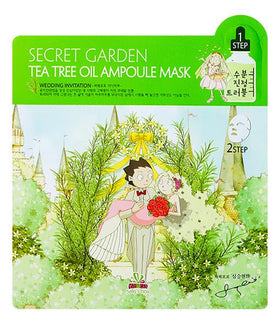 Secret Garden Tea Tree Oil Ampoule Mask Sallys Box Maschere Viso