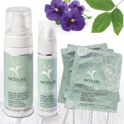 Set Purify - Mousse, Crema, 3 Maschere Setaré