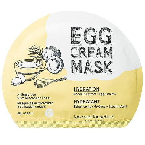 Egg Cream Mask Hydration Too Cool For School Maschere Viso