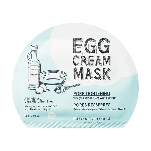 Egg Cream Mask Tightening Too Cool For School Maschere Viso