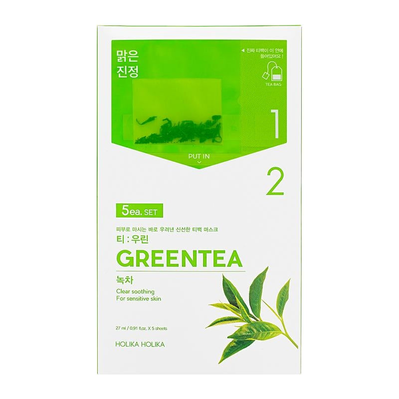 Green Tea Mask Tea Bag Holika Holika